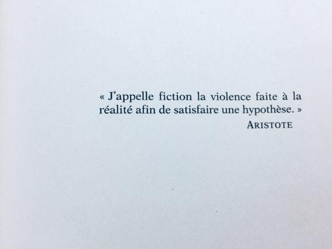 Eu chamo de ficção a violência feita à realidade a fim de satisfazer uma hipótese. (Aristóteles)